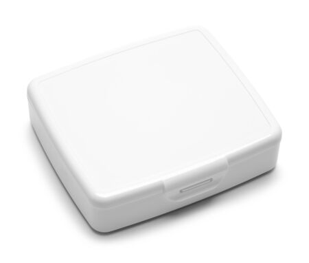 Small First Aid Box Isolated on a White Background.