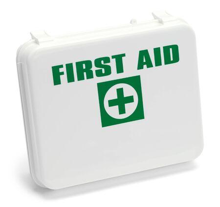 救急ボックスは、白い背景で隔離。 写真素材