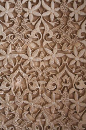 グラナダ: アルハンブラ宮殿、スペインでの壁します。 報道画像