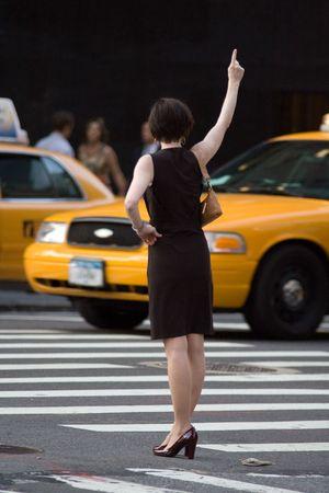 manhatan: Yellow cab in New York Stock Photo