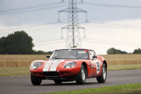 marcos: marcos 1800gt,castyle combe race,celebrating 60  years of racing