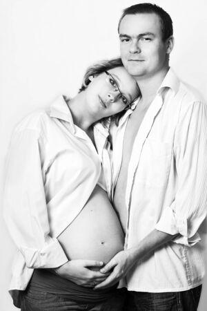 Portret rodziców oczekiwano ich pierwsze dziecko