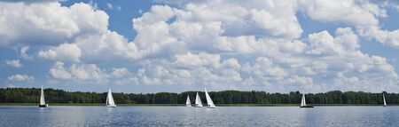 Regatta on Wigry Lake in Wigry National Park  Stock Photo