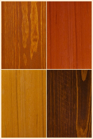 examples: set of four wood color swatches texture