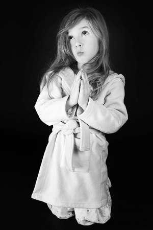 little  girl sending her message to God photo