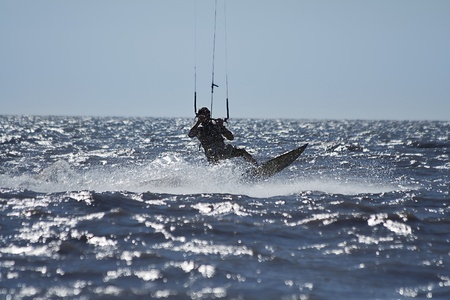 baltic sea: kite-boarding a new and modern summer sport