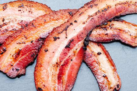 streaky: crispy organic heritage smoked bacon from a local organic farm