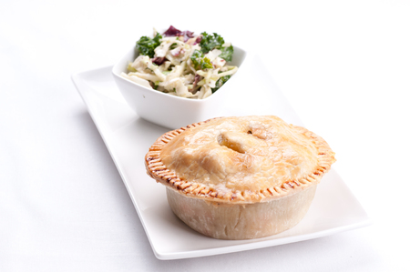 delicious chicken pot pie with kale salad