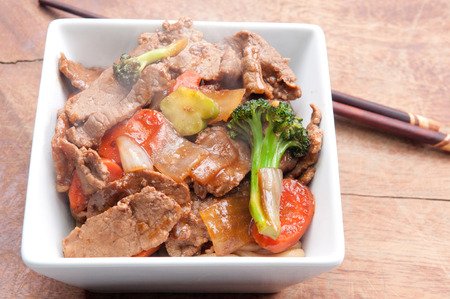 home made beef stir fry with fresh vegetables