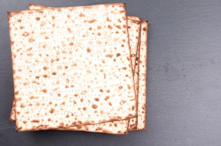 pesakh: matzo flatbread for Jewish high holiday celebrations Stock Photo