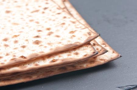 jewish: matzo flatbread for Jewish high holiday celebrations Stock Photo