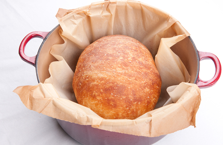 artisanal: hand made white bread artisanal style slow rise Stock Photo