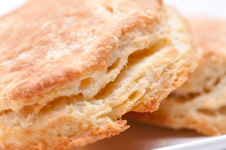 flaky: some fresh home made flaky buttermilk biscuits