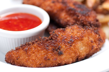 tenders: chicken tenders with fries and dipping sauce