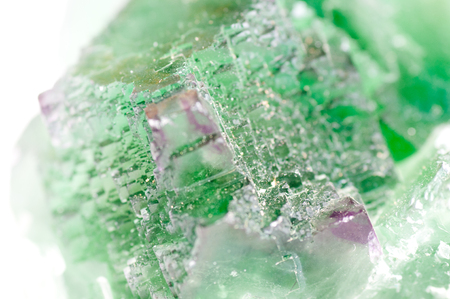 fluorite: large green fluorite cubic crystal mineral sample