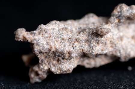 eletrical: fulgurite mineral formed from lightning fused materials Stock Photo