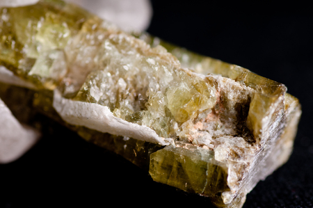spinel: elbaite crystal mineral sample, science geology lab