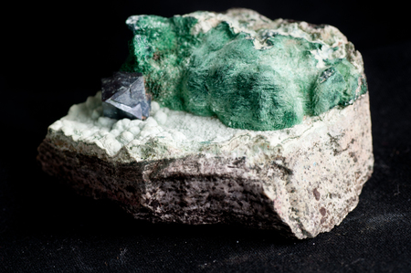 octahedral: cuprite, a minor copper ore mineral sample