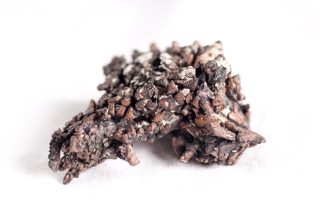 malleable: copper ore metal mineral sample used in manufacturing and jewelry Stock Photo