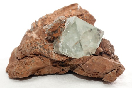 fluorite: clear cubic fluorite cubic crystal mineral sample