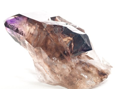 facets: large dirty quartz crystal mineral sample with many facets
