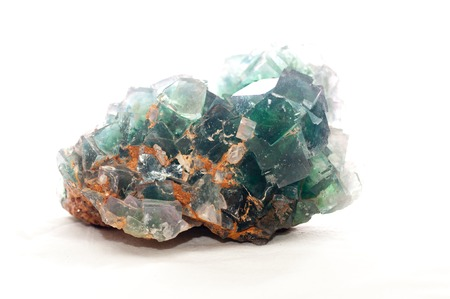 fluorite: multi colored fluorite mineral crystal sample for science and geology