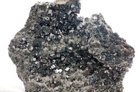 sulphide: galena metallic ore mineral sample, a rare earth mineral
