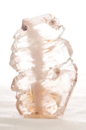 quartz crystal: quartz crystal mineral sample used in manufacturing
