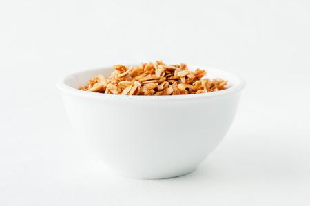 heathy: a tasty bowl of hand made granola, a heathy choice