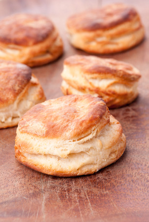 biscuits: home made buttermilk biscuits Stock Photo