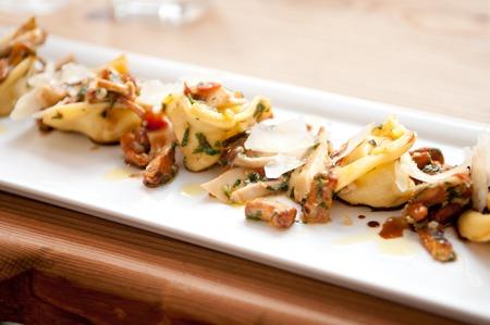 tortellini: hand made squash tortellini with mushroom ragout