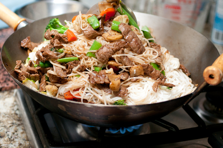 chinese food: home made beef stir fry