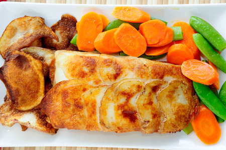 halibut: potato wrapped halibut fish fillets