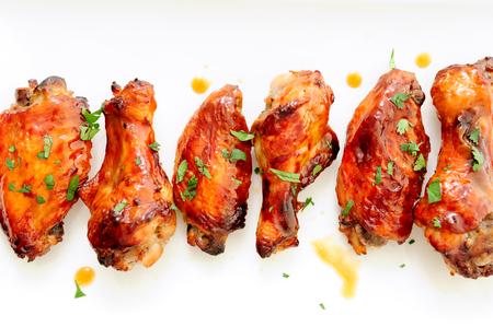 alitas de pollo: miel estilo asiático alitas de pollo de ajo