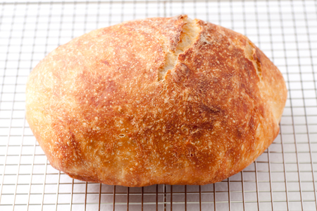 homestyle: hand made artisinal 18 hour overnight fresh bread, artisan style stock photo Stock Photo