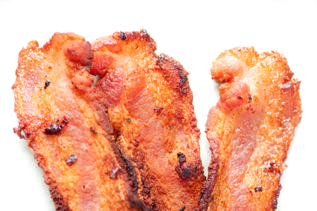 smoked bacon: crispy organic heritage smoked bacon from a local organic farm