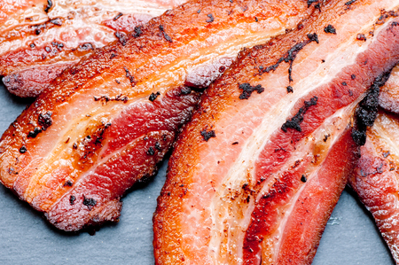 bacon fat: crispy organic heritage smoked bacon from a local organic farm