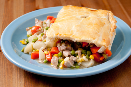 savory: savory turkey pot pie with holiday leftovers made from scratch at home