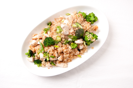 hoisin sauce: stir fry rice and chicken with broccoli