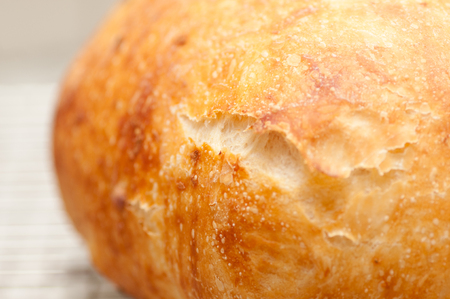 homestyle: hand made artisinal 18 hour overnight fresh bread with rosemary, artisan style stock photo
