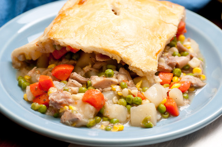 savory turkey pot pie with holiday leftovers made from scratch at home
