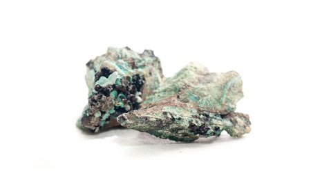 hydroxide: creedite or credite unrefined crystal sample used for meditation and healing Stock Photo