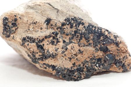 mined: andradite mineral crystal sample gemstone unrefined ore mined