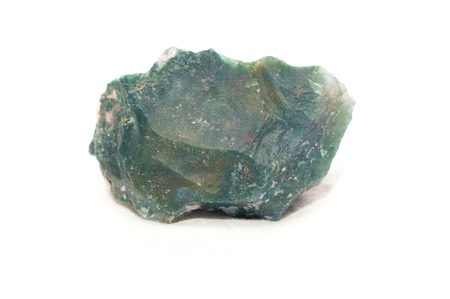 mined: moss agate crystal mineral sample used as a healing stone