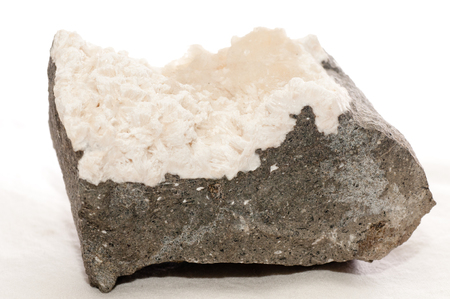 mesolite crystal mineral sample, a rare earth mineral Stock Photo