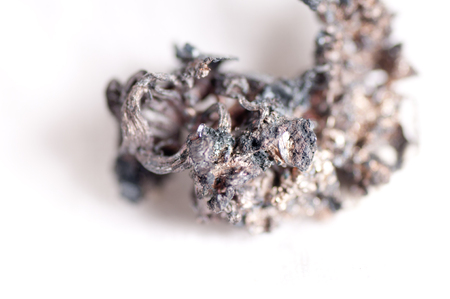 unrefined: unwrought silver ore, unrefined metal in a lump