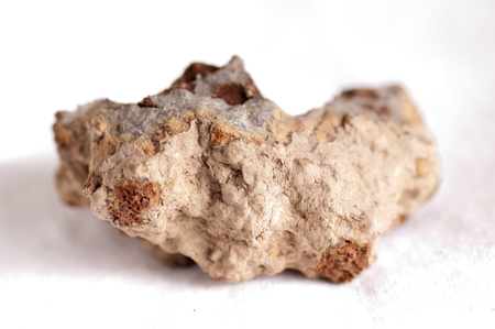 fibrous: anapaite mineral crystal, appears in fossilized rocks or sedimentary stone Stock Photo