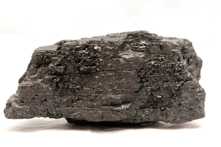 anthracite coal: some anthracite coal sample on a white background Stock Photo