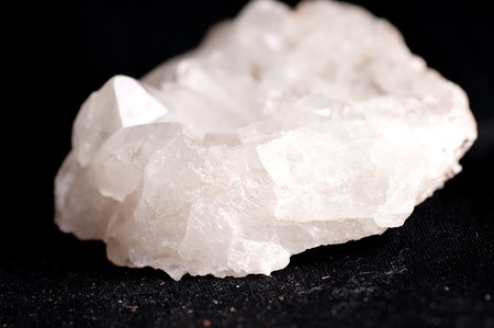 quartz crystal: quartz crystal mineral sample used for jewelry or manufacturing