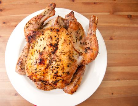 free range: healthy free range organic roasted chicken with herbs and crispy skin